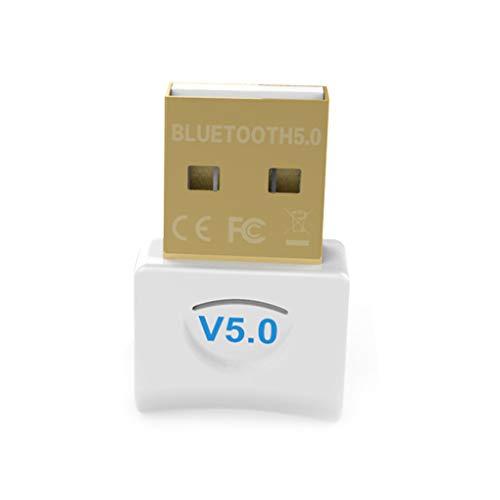 rongweiwang Bluetooth USB 5.0 Adaptador para o Adaptador inalámbrico Bluetooth Computadora de Escritorio PC ratón inalámbrico Receptor o transmisor