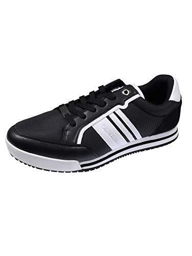 Calvin Klein Herren Schuhe Low Profile Sneaker Laceup PU Schwarz Sneakers 44 EU
