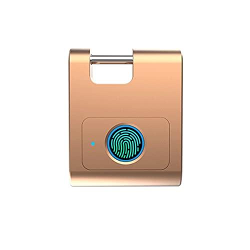XIXIDIAN Candado de huellas digitales inteligentes, carga USB Dormitorio electrónico Armario antirrobo Bluetooth Bluetooth Bloqueo de huellas dactilares Ultra Light One Touch abierto Bloqueo de huella