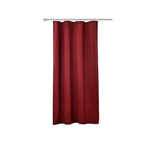 WOLTU Cortina Opaca,el cordón el Sombreado Cortinas de Luz para la Entrada Principal Dormitorio 135x175 cm Color Burdeos (1 Pieza)