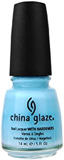 china glaze light blue nail polish