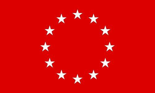 magFlags Drapeau Large Europe Version of Lev Bazilevskiy | My Version of Flag of Europe | Drapeau Paysage | 1.35m² | 90x150cm