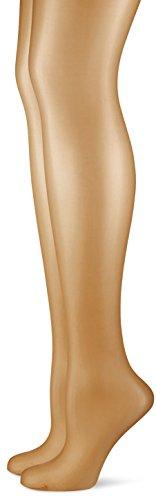 Hudson Damen Strumpfhose Simply Shine 15 021644, 2er Pack, Hautfarben (Make-Up 0019), Gr. 40/42