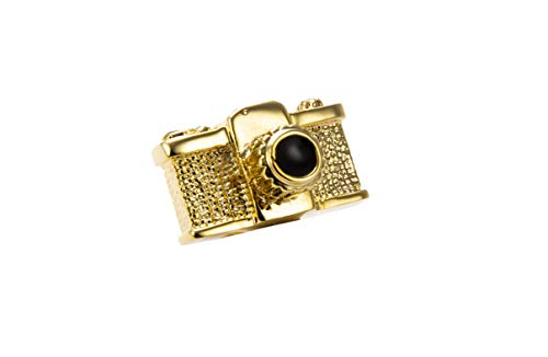 Knighthood Herren Kamera Revers Pin Brosche Gold Brosche/Reversnadel/Lapel Pin/Anzug/Sakko
