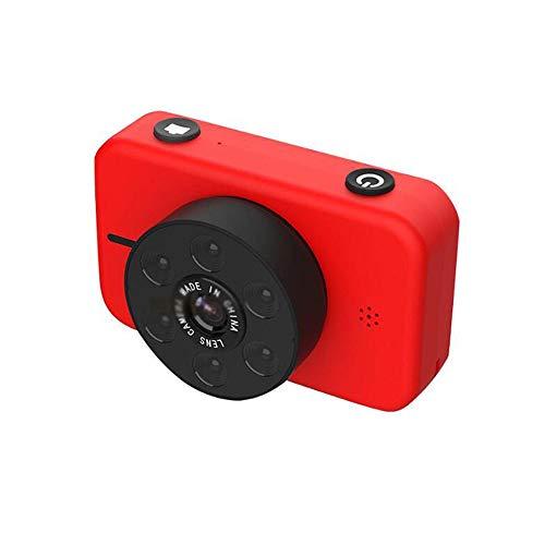 sknonr Kinder-Kamera 5000W Pixel 4K Ultra HD Digital-Dual-Kamera-Sport-Kamera Kinderspielzeug (Color : Red, Size : No SD Card)