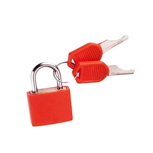 Cerradura pequeña Cerradura para Equipaje de Armario con 2 Llaves Caja de candado Caja Mini Cerraduras de Acero Fuerte-E