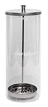 """Diane Glass Sterilizing Jar – Disinfectant Container for Salon Barber Shop – Large - 10"""" Tall x 3.4"""" Wide – 33 Fl Oz Capacity – Clear – D6063"""