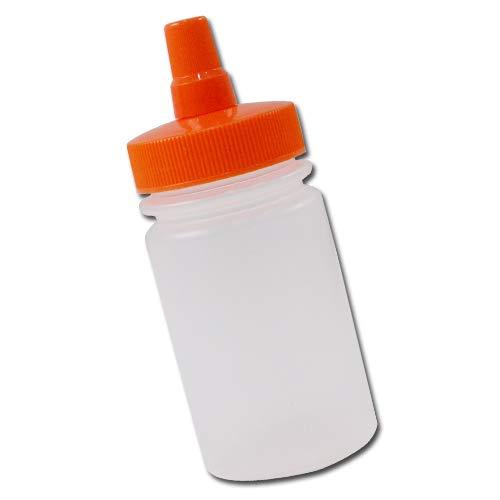 はちみつ容器100ml(オレンジキャップ)│ストレート型 業務用ローションや調味料の小分けに詰め替え用ハチミツ容器(蜂蜜容器)はちみつボトル