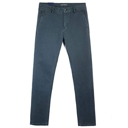 Pantalones de Vestir Elegantes de Corte Regular de Pierna Recta de Color Liso clásico para Hombre Pantalones de Vestir Elegantes Casuales de Oficina de Negocios para el hogar 36