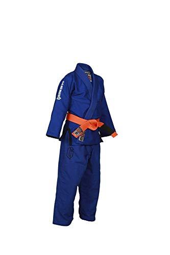 Gameness Aire Niño BJJ Gi Azul G1302 Kimono Uniforme Jiu-Jitsu Brasileño Vendido por Minotaurfightstore - 000