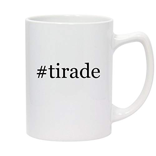 #tirade - 14oz Hashtag White Ceramic Statesman Coffee Mug