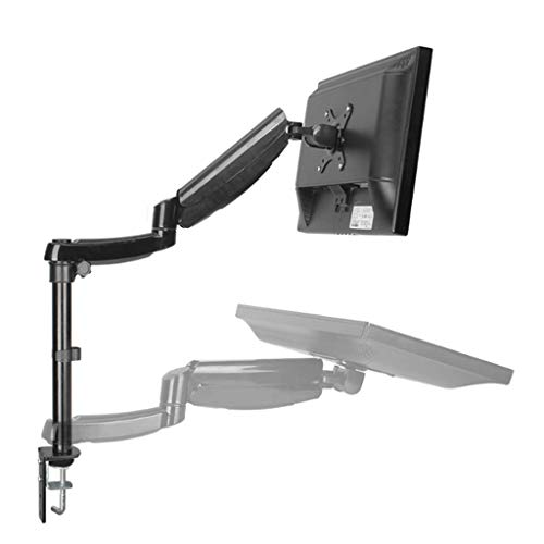 Aluminium hoogte verstelbaar 20-27 inch LCD LED Monitor Holder Beugel 360 graden draaien Computer Monitor Mount Stand (Color : Black)