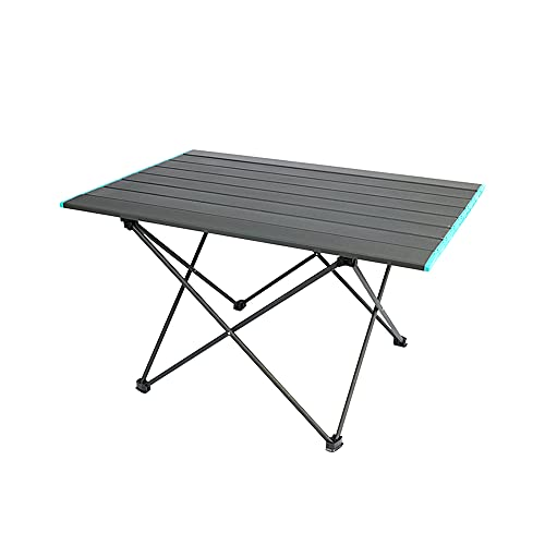 wudijimo Portable Camping Table, Foldable Aluminum Alloy Picnic Table, with Storage Bag, Suitable for Outdoor, Camping, Picnic, Barbecue, Beach, Fishing (Large)