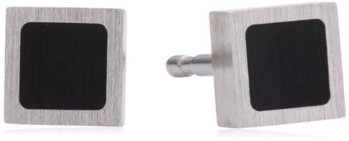 Xen - Pendientes de acero inoxidable con ónice