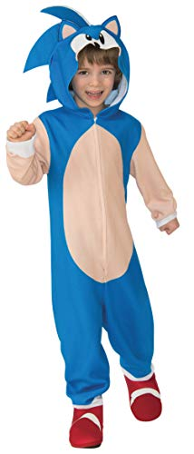 Rubie's Child's Costume Sonic Oversized Jumpsuit Costume, As Shown, Small US