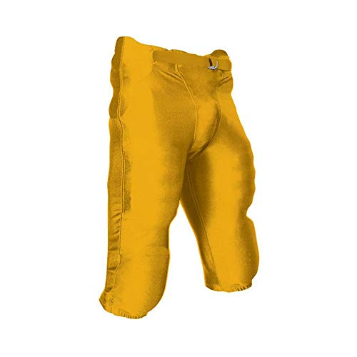 CHAMPRO Youth Integrated Football Game Pant Gold Small