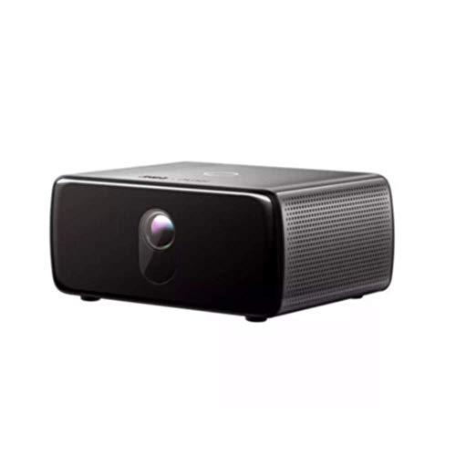 Proyector DLP 1080p LED proyector de cine en casa Bussiness hospitalidad del proyector 550-750 lúmenes 40-300 pulgadas de pantalla Negro for presentaciones PPT comerciales de cine en casa (Color: Negr