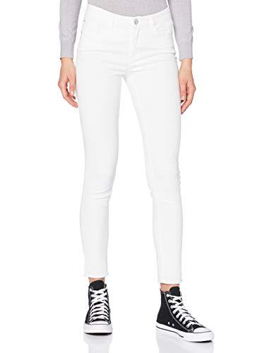 OPUS Damen Evita Satin Jeans, White, 40