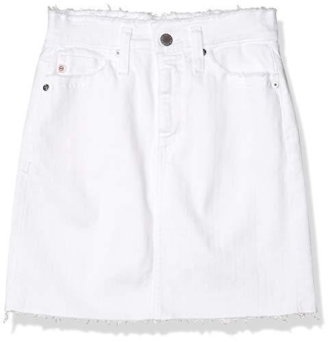 AG Adriano Goldschmied Women's Vera Denim Mini Skirt, Retro White, 31