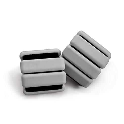 Ydshyth Juego de pesas ajustables para tobillo para mujeres, hombres, muñecas y tobillos, pesas deportivas para caminar, correr, cardio, entrenamiento de crossfit, entrenamientos de gimnasio (gris)