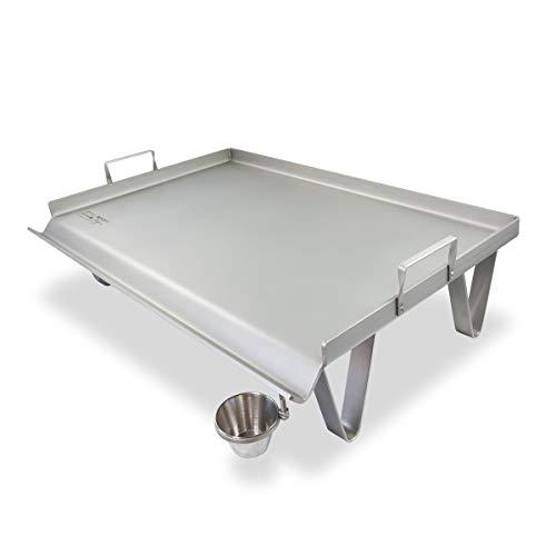 SteelChef Plancha de Asar Acero INOX, Modelo Familiar