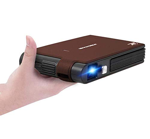 WIKISH WiFi Mini DLP Projector with 3600 Lumen, Portable 3D Projector Support 1080P HD, with Built-in Speaker Rechargeable Battery, Compatible with HDMI, USB, iPhone, Laptop, DVD, PS4 for Home Cinema