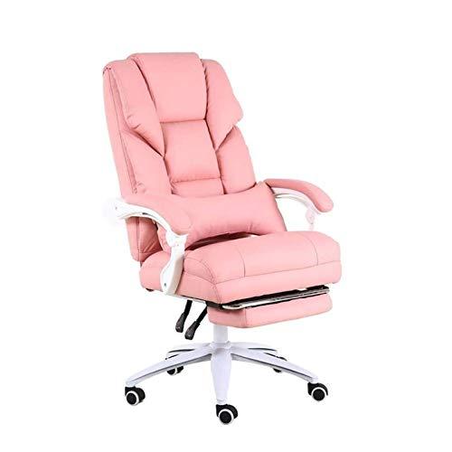 HMBB Sillas de escritorio, silla de oficina, silla de ordenador, silla giratoria, respaldo alto, silla giratoria de cuero con brazos acolchados y soporte lumbar función de masaje de gran ángulo