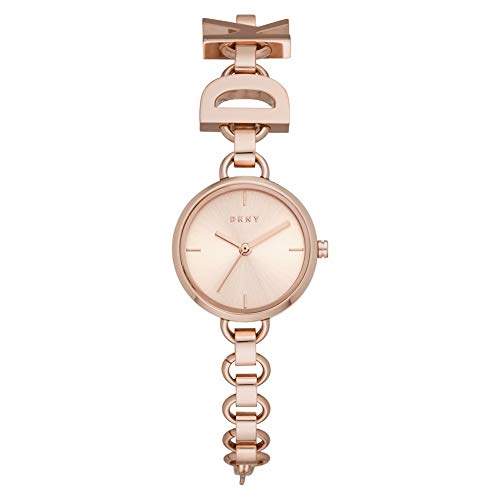 DKNY Damen-Uhren Analog Quarz One Size Rosé Edelstahl 32010655
