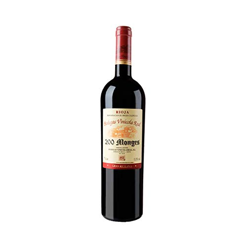 Vino tinto GRAN RESERVA 200 MONGES d.o Rioja 75 cl. Envío GRATIS 24h. (Pack 6 Botellas)