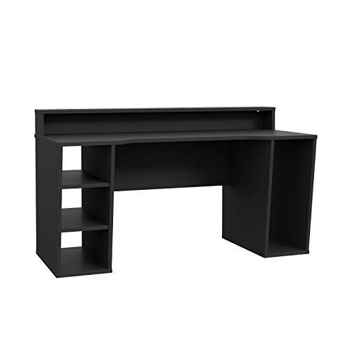 moebel-eins TEZO Gaming Tisch Schreibtisch Jugendschreibtisch Kinderschreibtisch Schülerschreibtisch Zeichentisch Pult ohne Beleuchtung, Material Dekorspanplatte