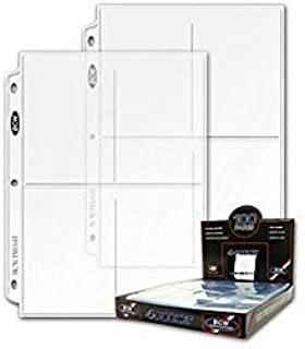 Ultra Pro 25 (Twenty Five Pages) 4-Pocket Coupon Pages (3.5 X 5 inches, top load pockets)