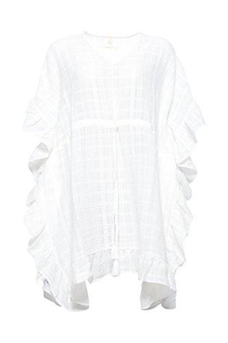Esprit Accessoires Damen Tunika 048EA1Q030, Weiß (Off White 110), Small
