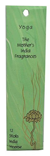 Yoga High Quality Fair Trade Handmade Mini Incense - The Mother's India Fragrances - 12 Joss Incense Sticks - Blend of sandalwood & patchouli - Burn time 1/2 hour - Great for Relaxing Meditation -Free Postage! by The Mother's India Fragrances