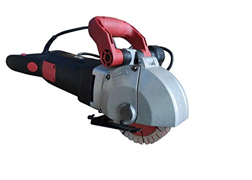 VOLTZ 125 Wall Chaser 3500W Groove Cutting Machine Wall Groove Slotting Machine Electric Brick Wall Chaser for Brick Granite Marble Concrete Cutter Notcher Groover 220V