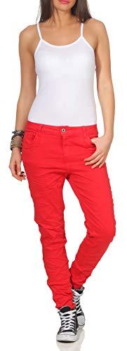 Karostar dames jeans stretch moderne Chino lange broek boyfriend broek heupjeans skinny 62