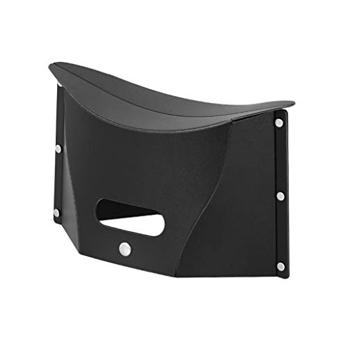 Fine Multifunctional Storage Folding Stool,Mini Portable Folding Stool,Outdoor Folding Chair Slacker Chair Fishing Stool (Black)