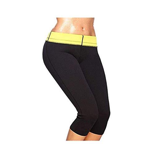 EMNDR Hot Shaper Pants for Women/Men Weight Loss Workout Leggings Easy Slim Hot Yoga Capri Thigh Belly Fat Burner Waist Trainer Black