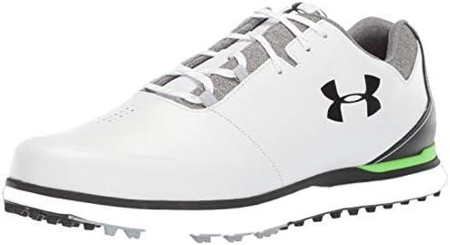 Under Armour Men s Showdown Golf Shoe White 100 Black 7 M US product image