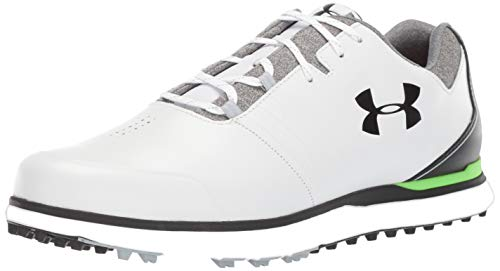 Under Armour Men's Showdown Golf Shoe, White (100)/Black, 11.5 M US