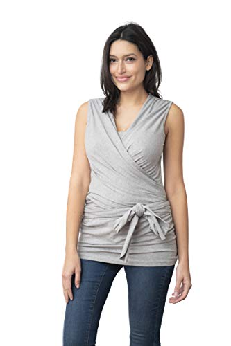 Seraphine Womens Skin to Skin Wrap Cotton Maternity Top in...