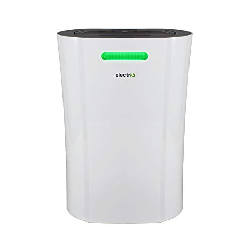 electriQ 12L Low Energy Dehumidifier, for Damp, Condensation, Mould and Mildew. Suitable for up to 3 Bed House and Fitted with Multi Stage air Purifier, and WiFi Control
