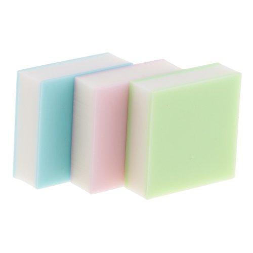 Bonarty 3 Piezas de Bloques de Tallado de Goma de Gelatina Transparente de Colores Herramienta de Escultura de Sello de Goma para álbumes de Recortes, Postale