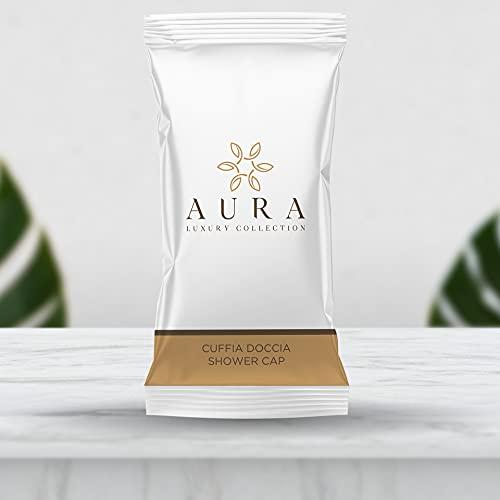 Aura Luxury Collection ® Cuffie monouso impermeabili per capelli da utilizzare sotto la doccia taglia unica con elastico