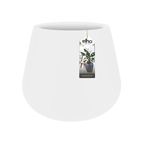 elho pure Cone 45 Pflanzentopf – Runder Blumentopf in Weiß – Zeitgenössiger Designtopf für den Innen- und Außenbereich – Ø 43 x H 36,3 cm
