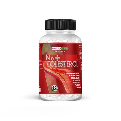 NO + Colesterol   Reduce y regula los niveles de colesterol   Mantiene el colesterol en niveles sanos y estables   Levadura de Arroz Rojo Coenzima Q10, Resveratrol, Mango Africano y Vitamina D   60U.