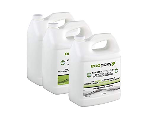 EcoPoxy Liquid Plastic 12 Liter - 2:1 Ratio Mix NEW