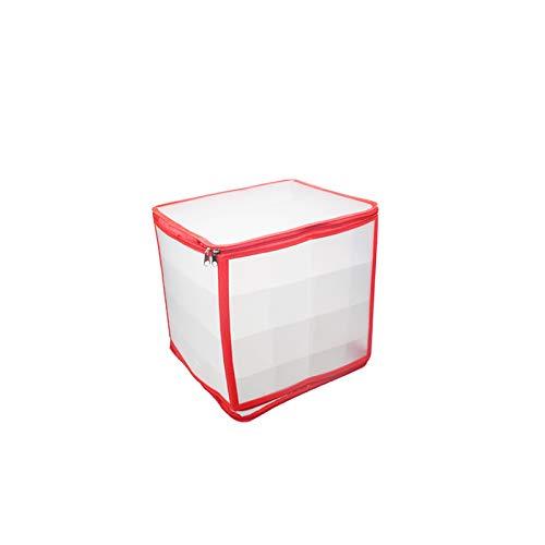 AAGTA Faltbare Weihnachtskugeln Ornament Aufbewahrungsbox, Ideale Stilvolle Festliche Behälter Box für Weihnachtsschmuck & Baumschmuck Aufbewahrung