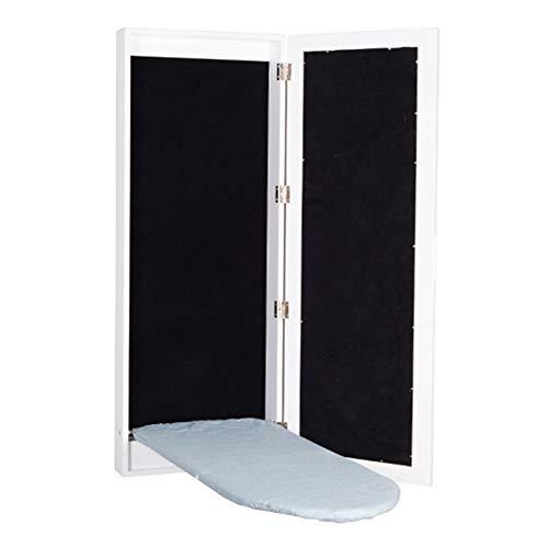 Tabla De Planchar Espejo Plegable Montado En La Pared Marco De Madera Maciza Moderno Muebles Simples Fácil Instalación (Size : 95x35.5x9.5cm)
