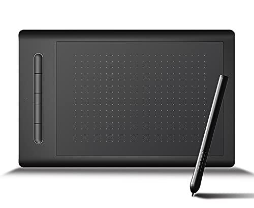GYAM Tabletas Gráficas,Tablero De Dibujo Digital Inalámbrico De 8 X 5 Pulgadas Nivel 8192, Lápiz Óptico Sin Batería, 5 Teclas De Acceso Directo, Creación De Arte Aprendizaje A Distancia