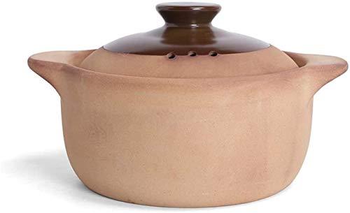 Cazuela de hierro Cazuela de cerámica sin engelación tradicional, olla de arcilla de cocción lenta de calor, nottick Stockpot de utensilios de cocina Sombra saludable B 1L ( Color : F , Size : 3.2L )